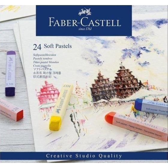Pastelli Creta Soft Confezione 24 Colori Assortiti 128324 Faber Castell - 1