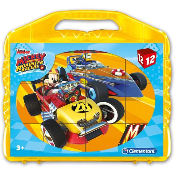 Mickey Roadster Racers Puzzle Cubi 12 Pezzi 41183 Clementoni - 3