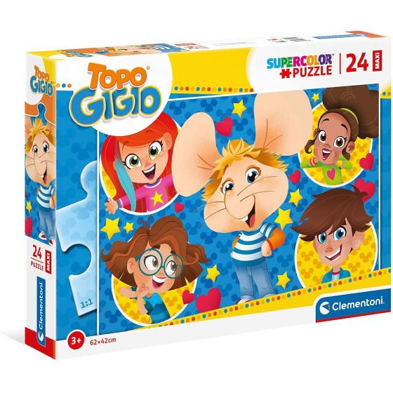Topo Gigio Supercolor Puzzle 24 Maxi Pezzi 24214 Clementoni - 2