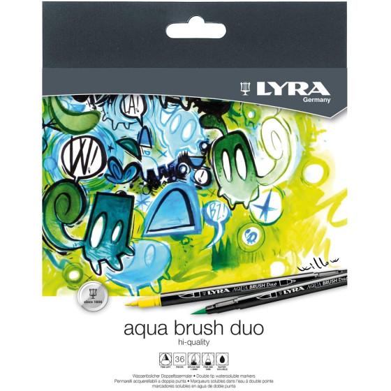 Pennarello Aqua Brush Duo Set 36 pz L6521360 Lyra - 3