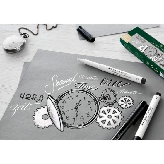 Pennarello Pitt Artist Pen Bianco 1.5mm Confezione 10 Pz 167893 Faber Castell - 6