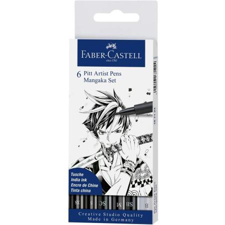 Penna Manga Pitt Artist Set 6 Pz 167124 Faber Castell - 1