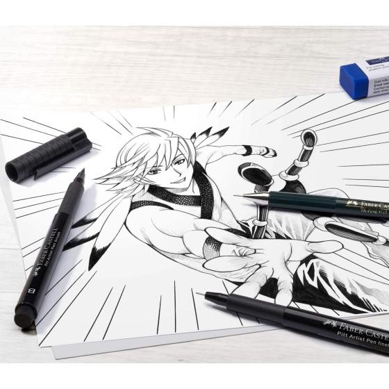 Penna Manga Pitt Artist Shônen Kaoiro B Set 6 Pz 167168 Faber Castell - 2