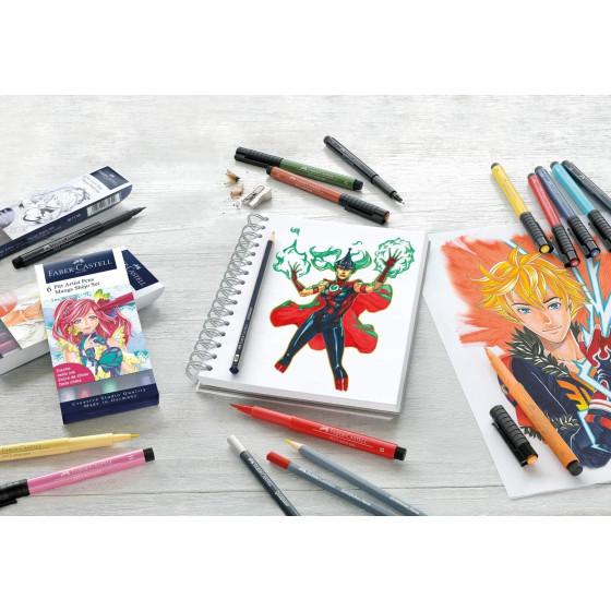 Penna Manga Pitt Artist Shônen Kaoiro B Set 6 Pz 167168 Faber Castell - 3