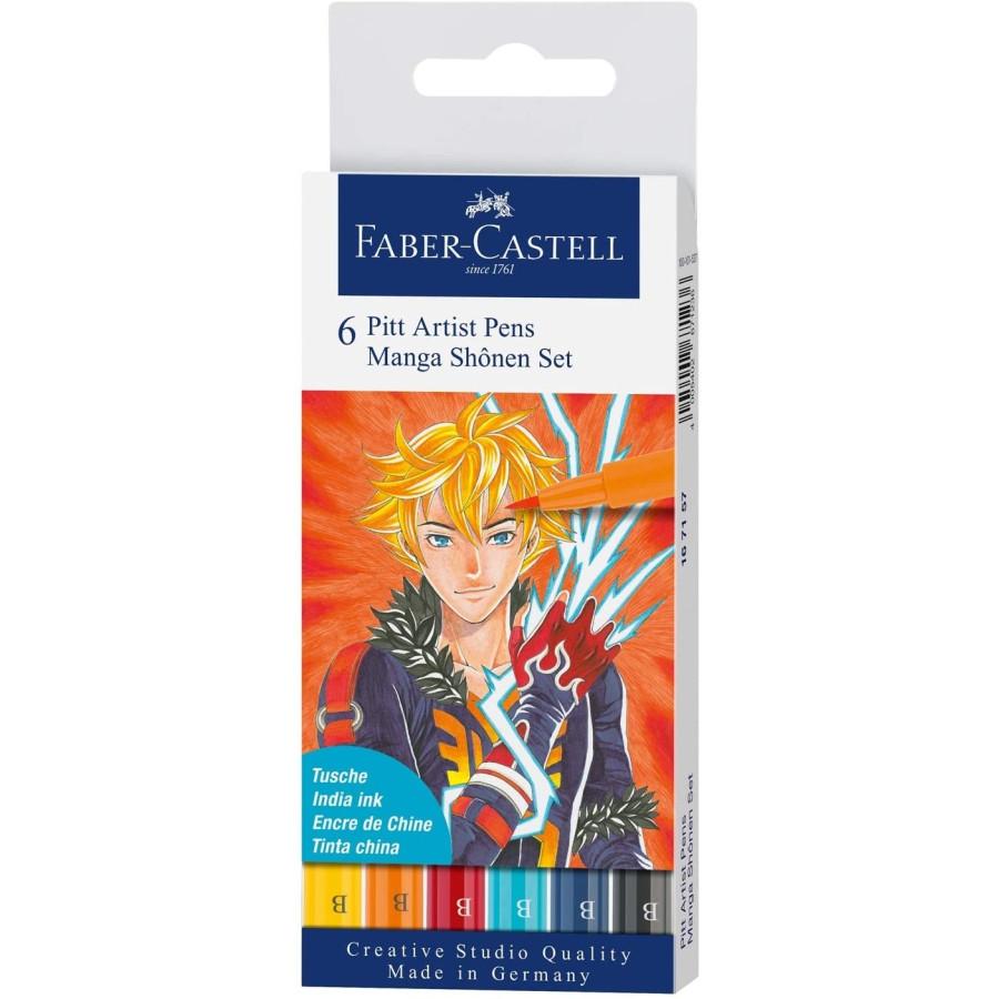 Penna Manga Pitt Artist Set 6 Pz 167157 Faber Castell - 1