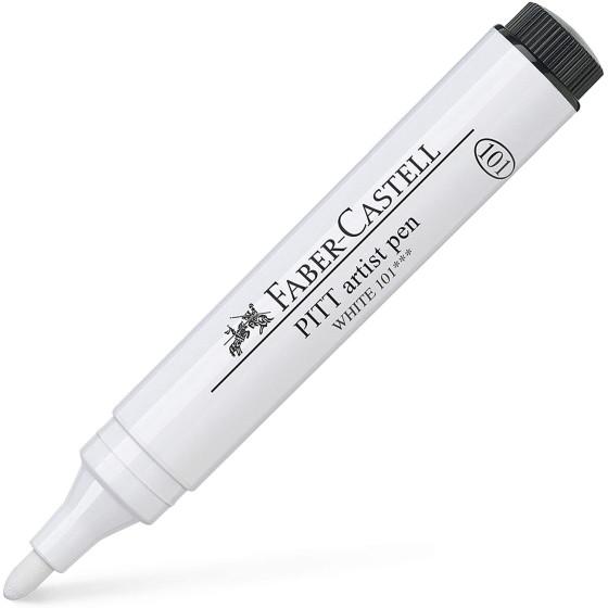 Pennarello Pitt Artist Pen Bianco Set 4 Pezzi 167601 Faber Castell - 6
