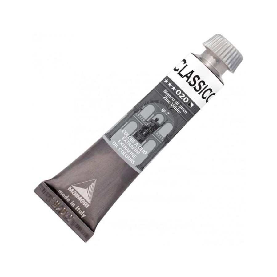 Maimeri Colore Ad Olio Extrafine Bianco di Zinco M0302020 20 ml 3 Pz Fila - 1