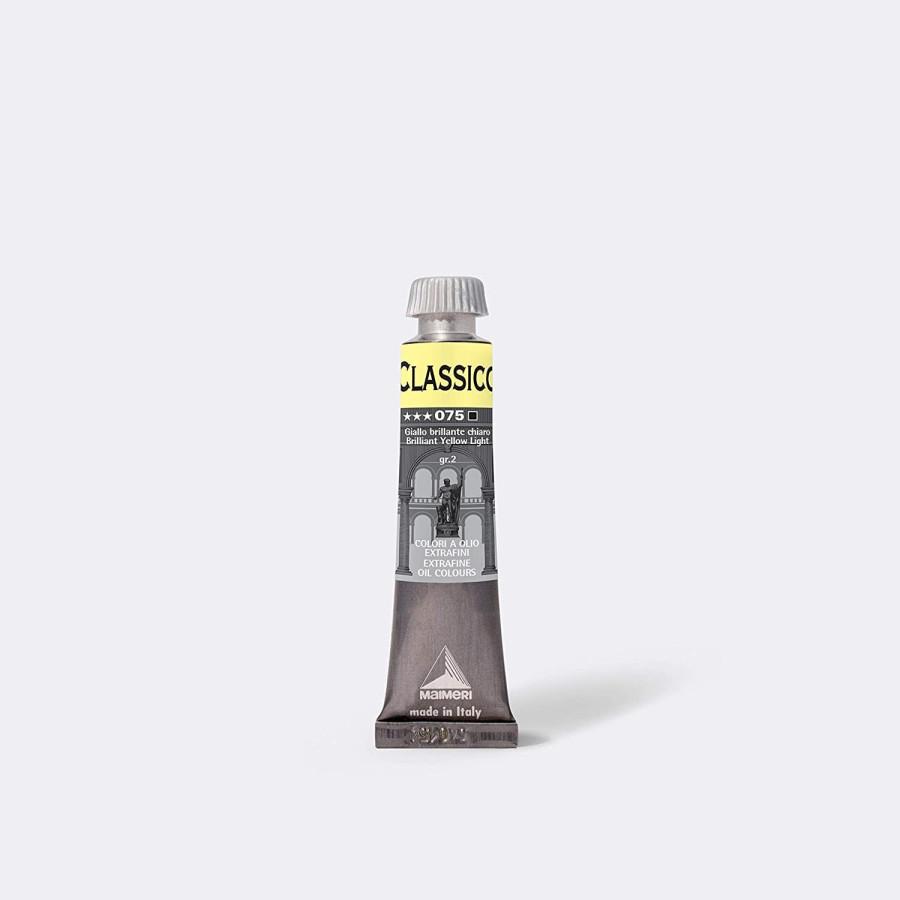 Maimeri Colore Ad Olio Extrafine Giallo Brillante Chiaro M0302075 20ml 3 Pz Fila - 1