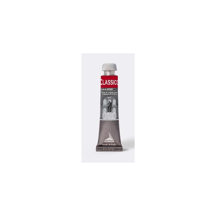 Maimeri Colore ad Olio Extrafine Rosso Cadmio Scuro M0302232 20ml 3 Pz Fila - 1