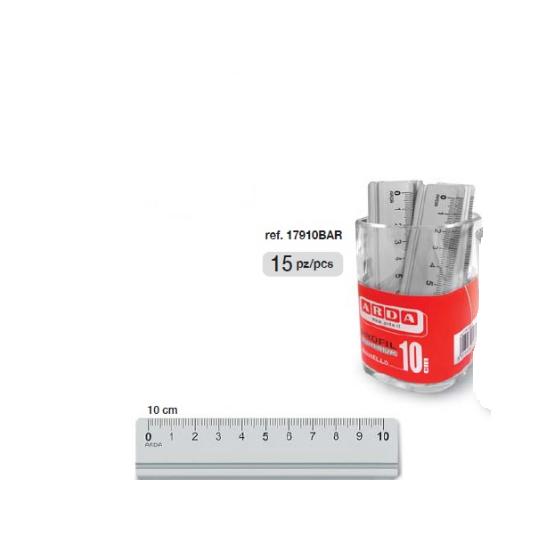 Righello 10 cm in Alluminio 15 pezzi Arda - 1