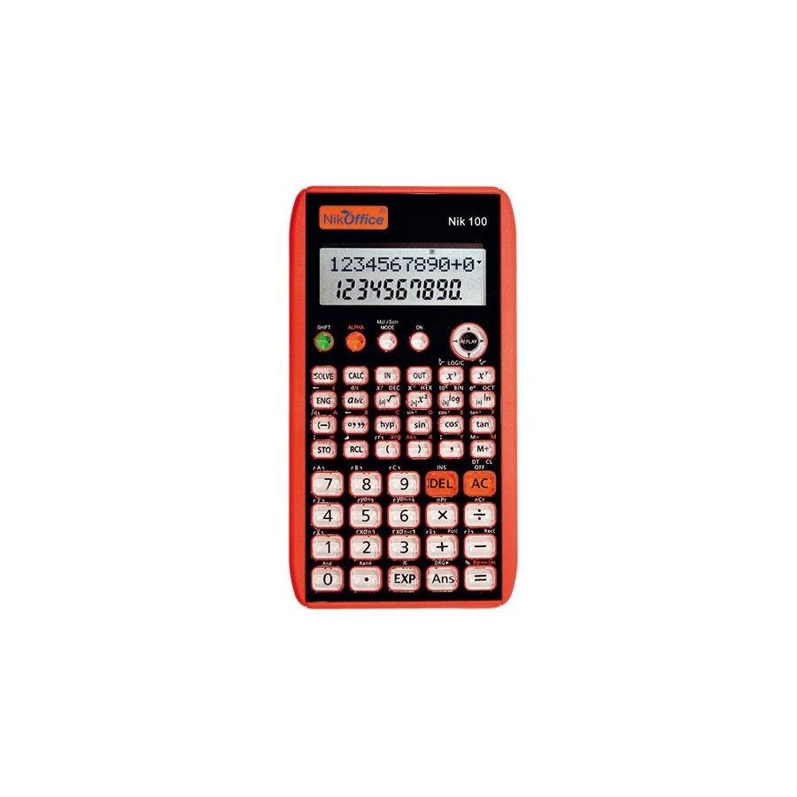 Calcolatrice Scientifica 10+2 NIK Colori Assortiti 100 08NIK087 NikOffice - 1
