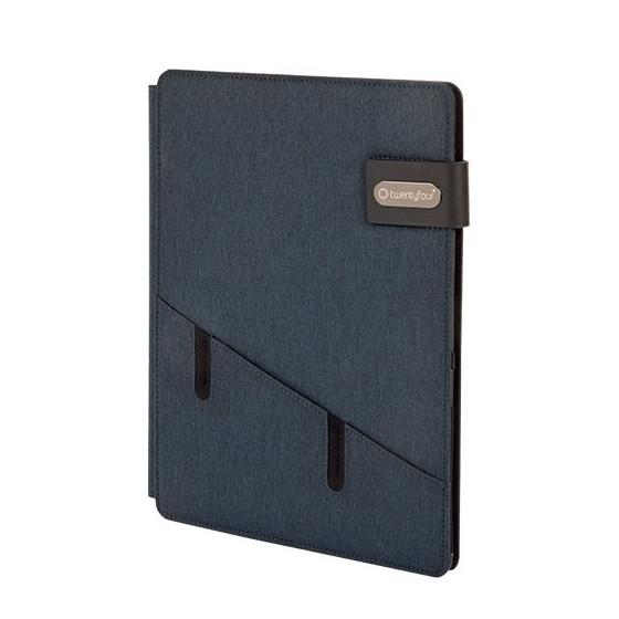 Portablocco Tessuto con Cerniera 3053 Blu 37NIK103 NikOffice - 1