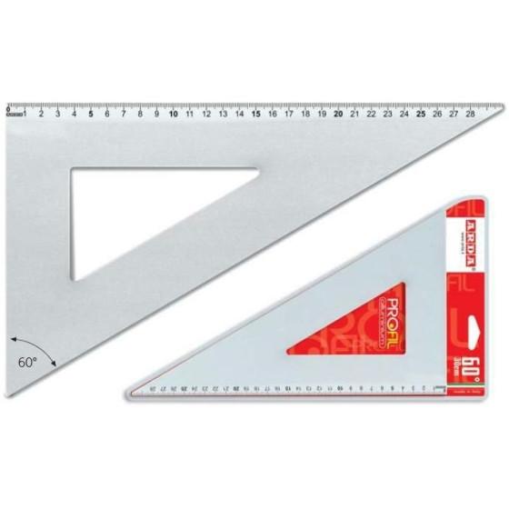 Squadra 60° 30 cm in Alluminio Arda - 1