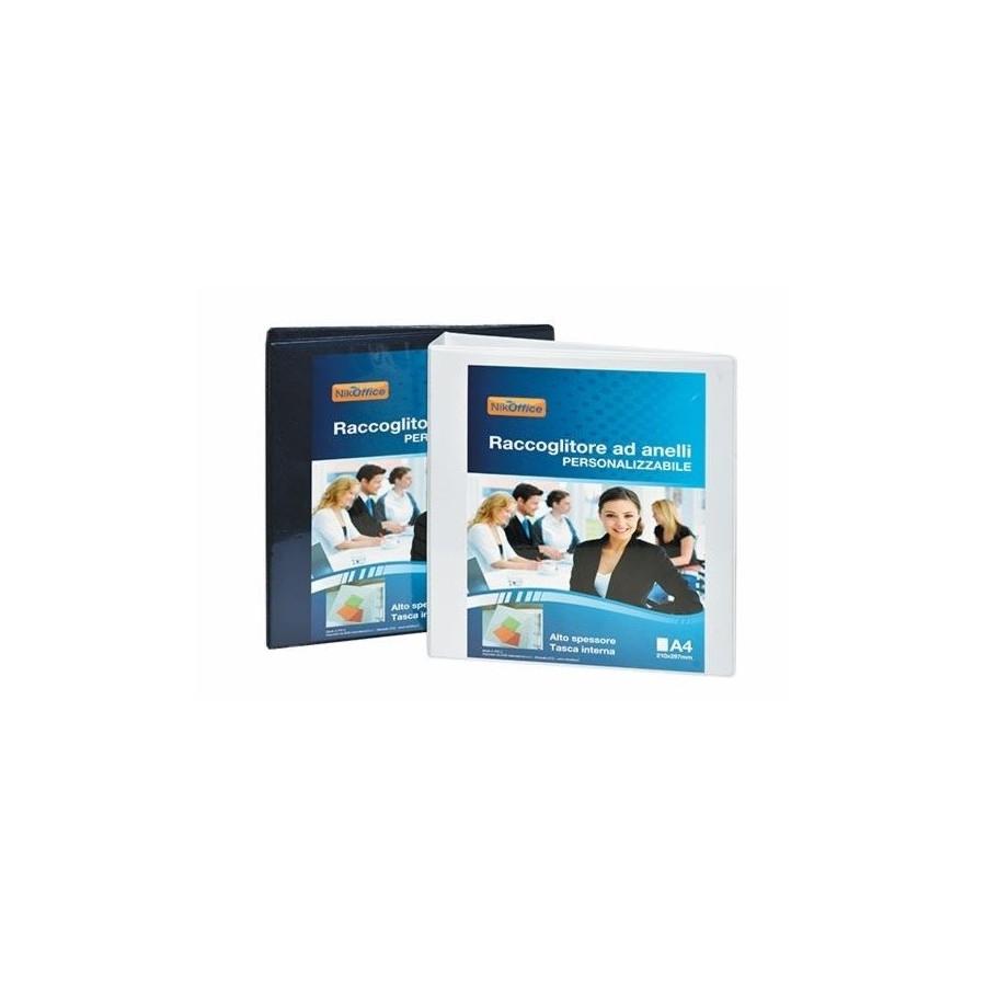 Raccoglitore 4 Anelli Personalizzabile D 30 19NIK002 Colori Assortiti NikOffice - 1