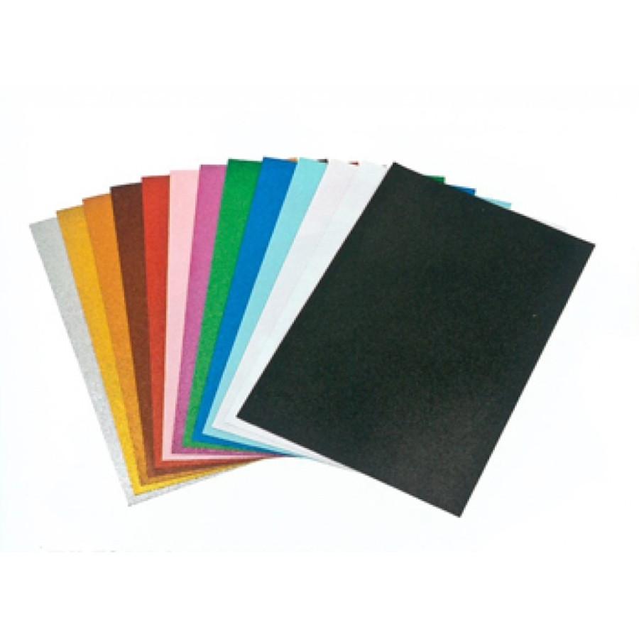Fogli Eva Foam Confezione 10 Fogli 2mm 40x60cm Verde Fluo Glitter 23NIK173 NikOffice - 1