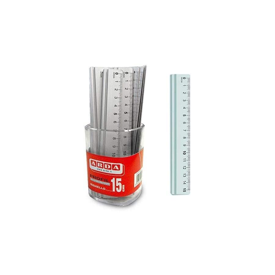 Righello 15 cm in Alluminio 15 pezzi Arda - 1