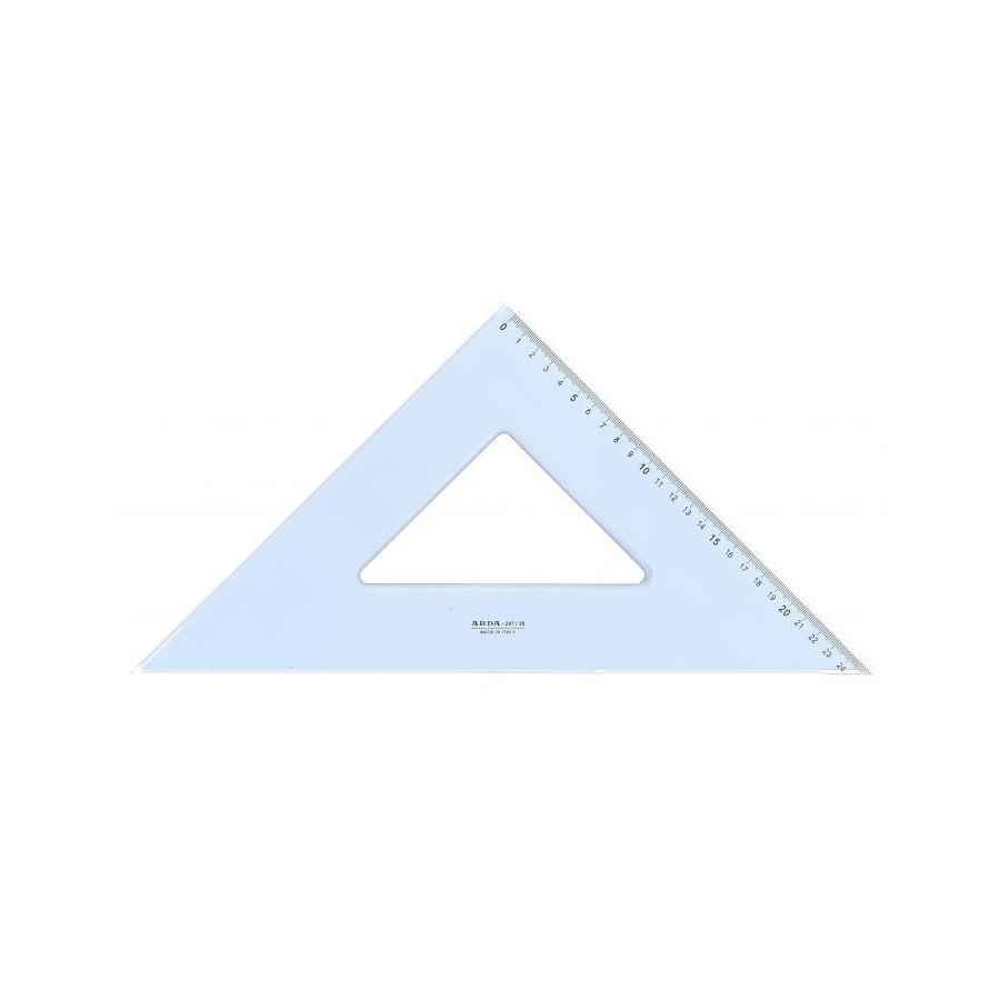 Squadra 45° 35 cm in Plastica Arda - 1