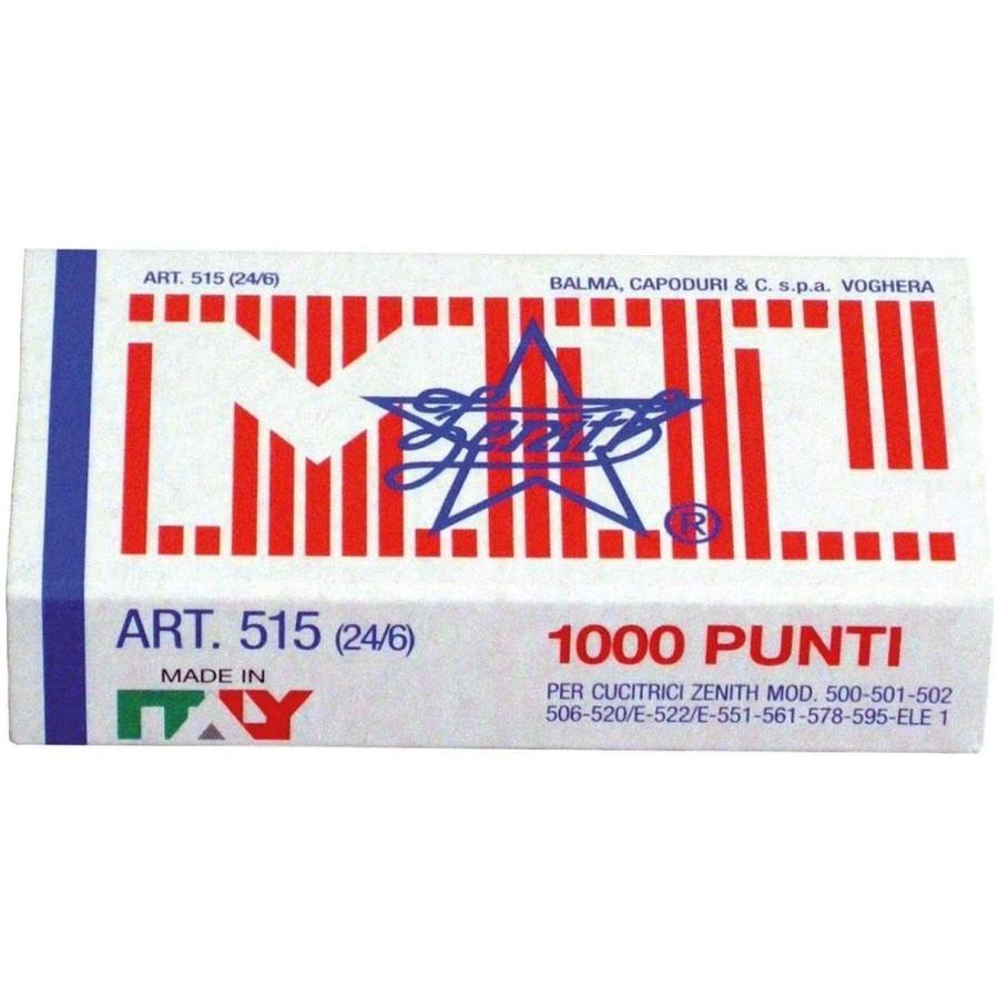 Punti Zenith 515 Universali Per Cucitrici e Spillatrici 24/6 1000 Punti Balma, Capoduri & Co. - 1