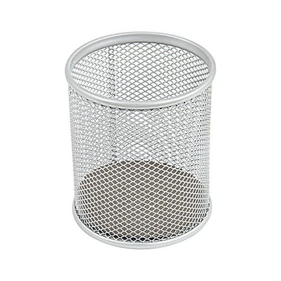 Portapenne Rete diametro 8cm Silver NikOffice - 1