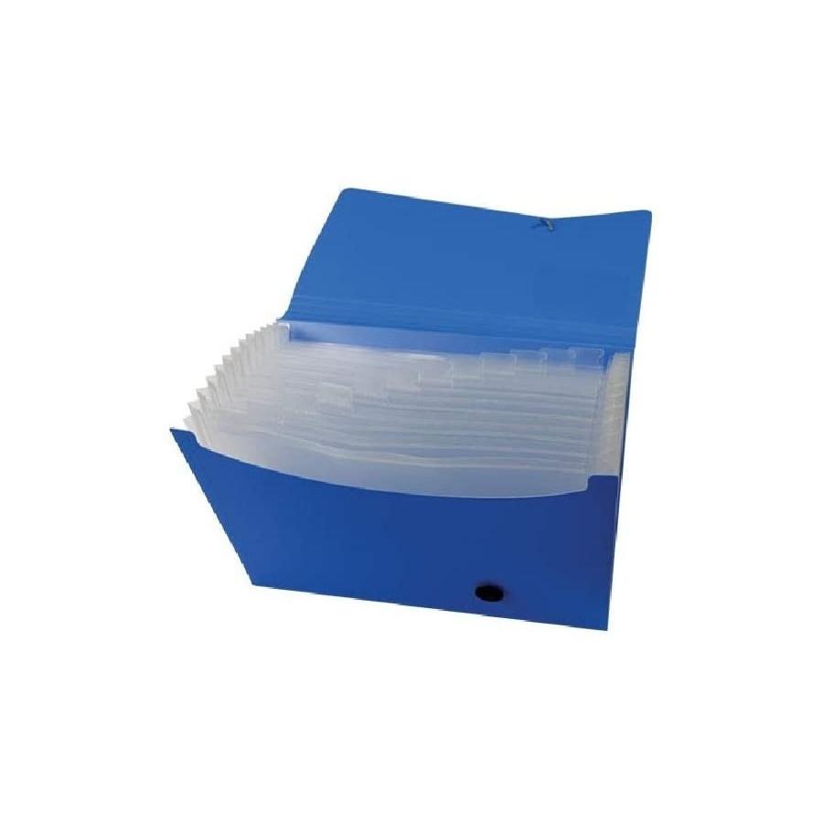Cartella Portadocumenti 13 Tasche Blu A4 210x297mm Dorso 2.8 01NIK089 NikOffice - 1
