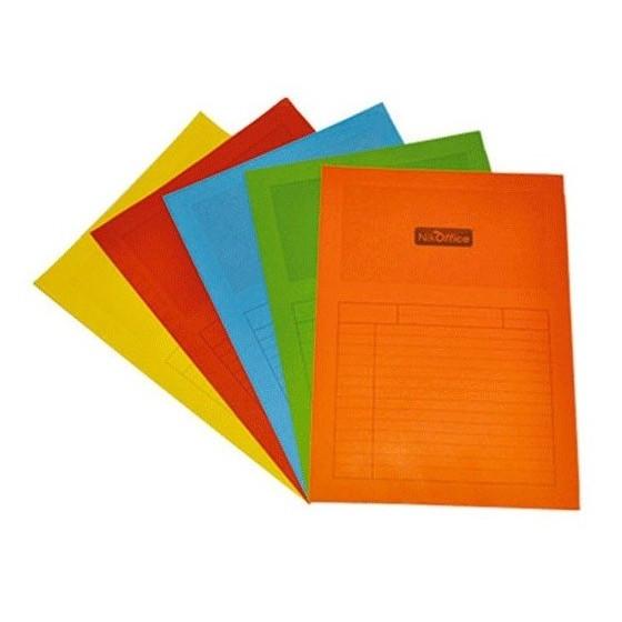 Cartella con Finestra Colori Assortiti 25 Pz 120g 23NIK083/A NikOffice - 1