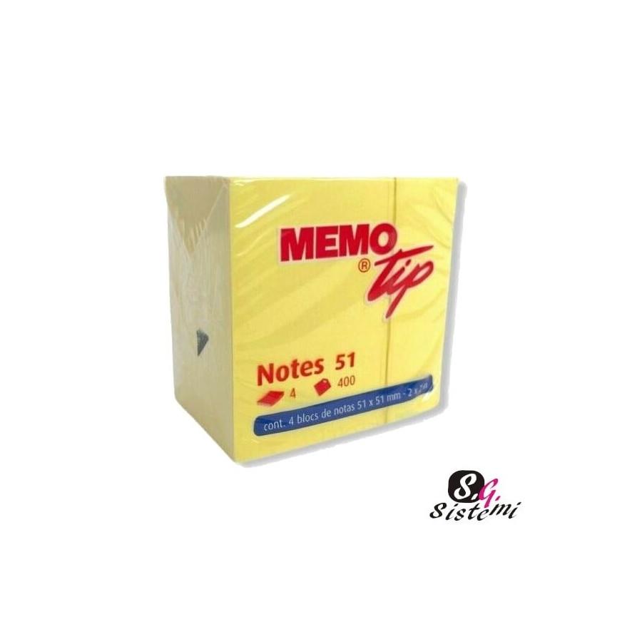Cubo 400 Fogli 51x51mm Giallo 30NIK019/1 NikOffice - 1
