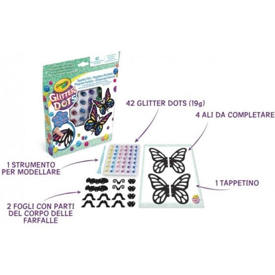 Glitter Dots - Set Magiche Farfalle Crayola - 1