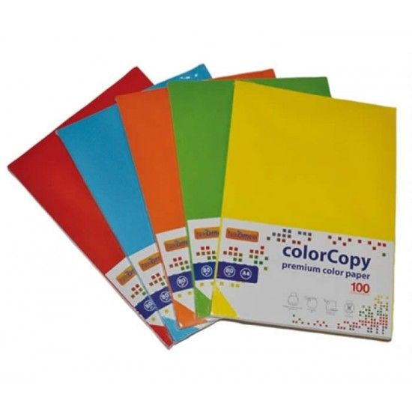 Risma 100 Fogli 200g A3 297x420mm Colori Pastello 23NIK166 NikOffice - 1