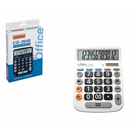 Calcolatrice 12 Digit CD2648 08NIK054 NikOffice - 1