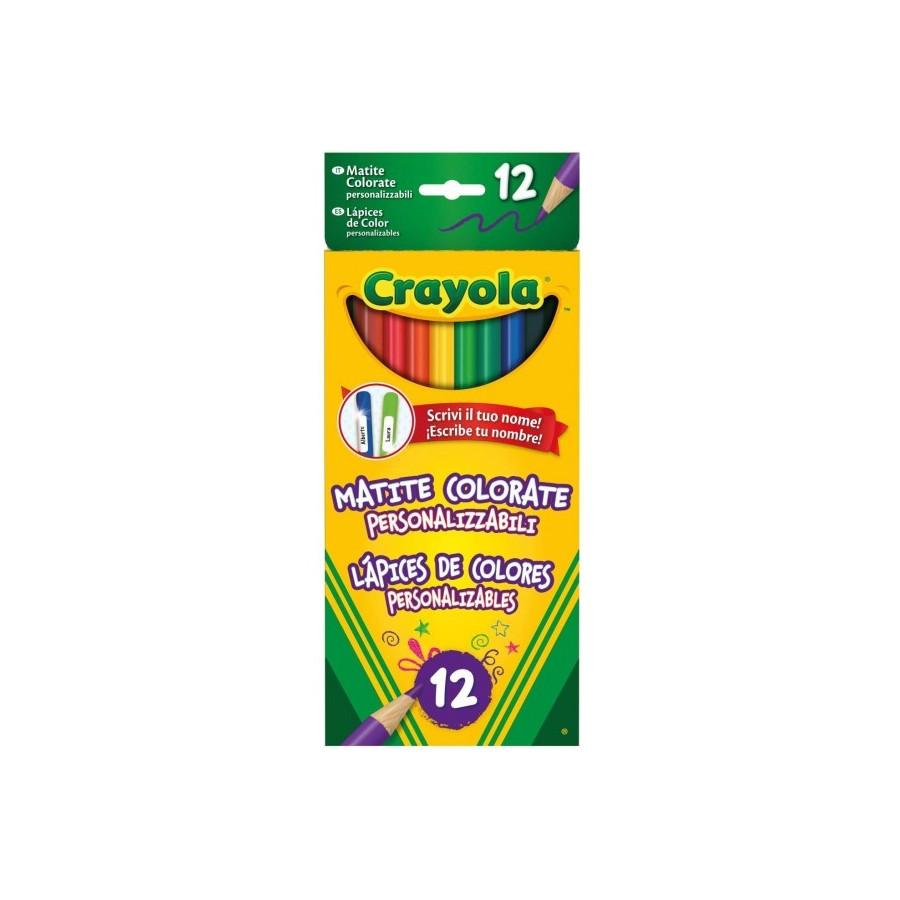 Matite Colorate Personalizzabili 12 pezzi Crayola - 1