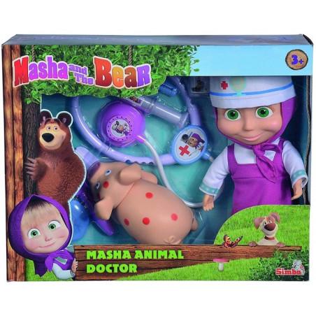 Bambola Masha Veterinaria con Maialino Simba - 1