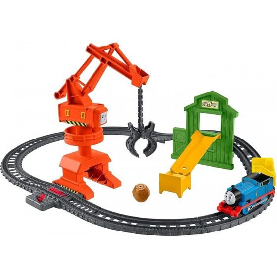 Trenino Thomas Trackmaster Playset Pista Cantiere della Gru GHK83 Fisher Price - 1
