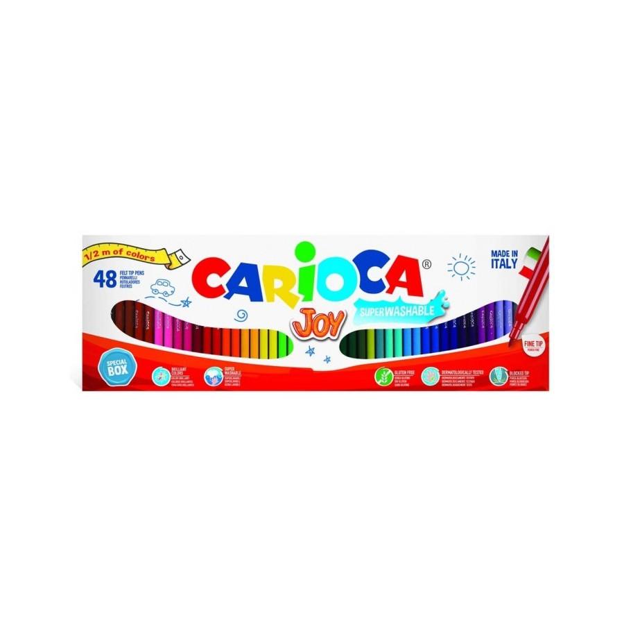 Carioca Joy Pennarelli Punta Fine 48 Pezzi Carioca - 1