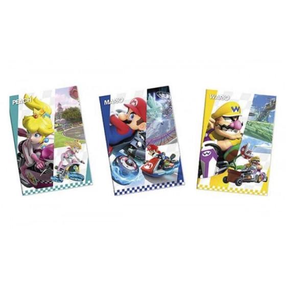 Quaderno Maxi Mario Kart 100 gr Rigatura A confezione 12 pz Originale - 1