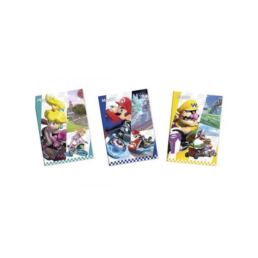 Quaderno Maxi Mario Kart 100 gr Rigatura 10 mm confezione 12 pz Originale - 1