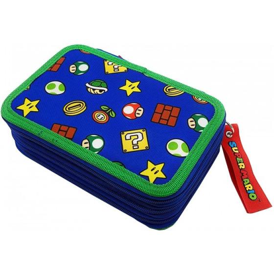 Astuccio portapenne Super Mario a 3 cerniere Completo Originale - 1