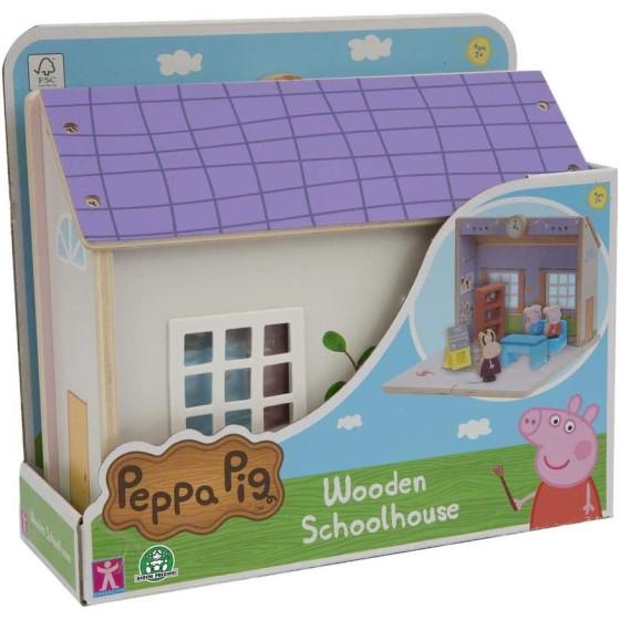 Peppa Pig Playset Scuola in Legno con Personaggi Giochi Preziosi - 1