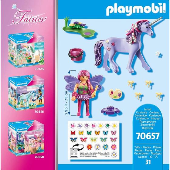 Playmobil Fairies 70657 Unicorno con Fata decoratrice Playmobil - 3