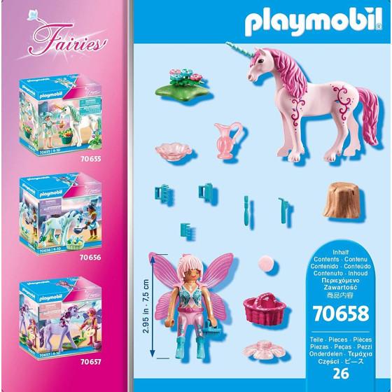 Playmobil Fairies 70658 Unicorno con Fata toelettatrice Playmobil - 3