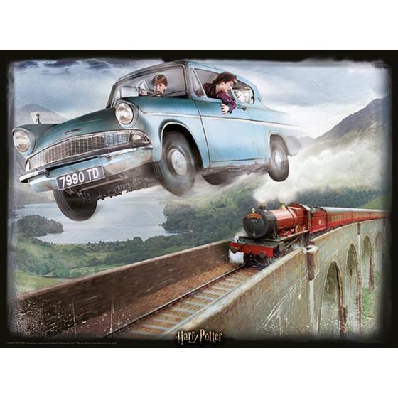 Harry Potter Prime 3D Puzzle Ford Anglia Borella - 2
