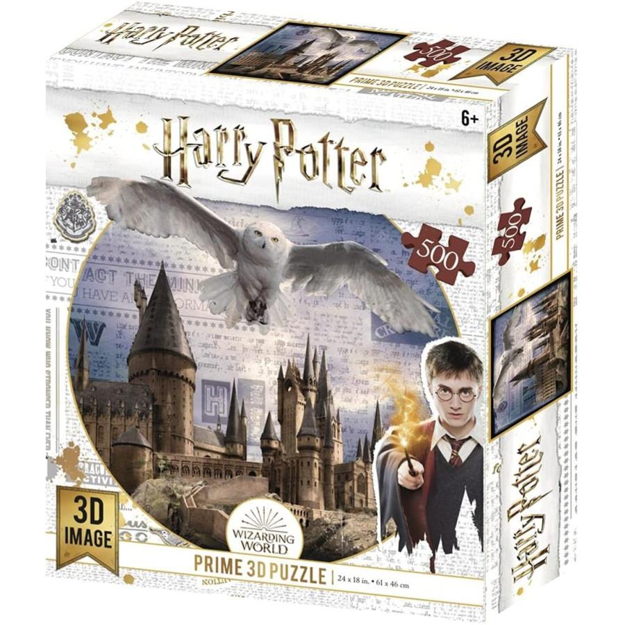 Harry Potter Prime 3D Puzzle Edvige e Hogwarts Borella - 1