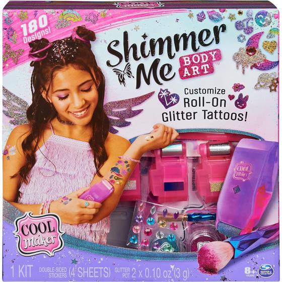 Cool Maker Shimmer Me Body Art con Rullo Crea Tattoo Spin Master - 1