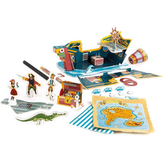 Sapientino Costruisci e Gioca: Il Galeone dei Pirati 16317 Clementoni - 3