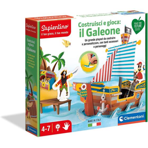 Sapientino Costruisci e Gioca: Il Galeone dei Pirati 16317 Clementoni - 1