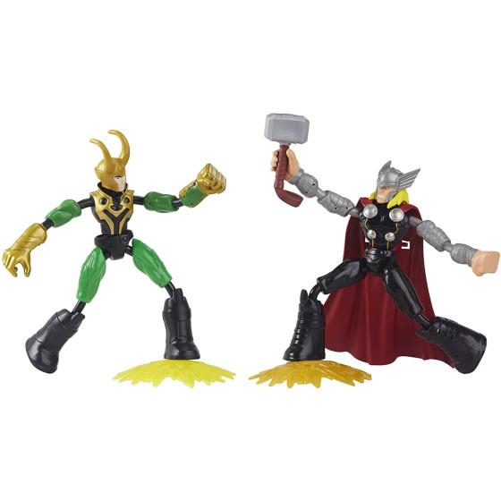 Avengers Bend and Flex Thor Vs Loki 15cm Hasbro - 1