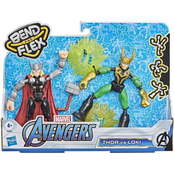Avengers Bend and Flex Thor Vs Loki 15cm Hasbro - 4