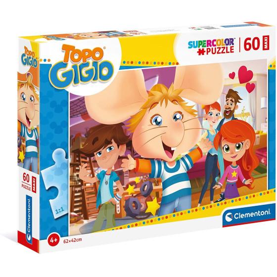 Topo Gigio Supercolor Puzzle 60 Maxi Pezzi 26469 Clementoni - 1