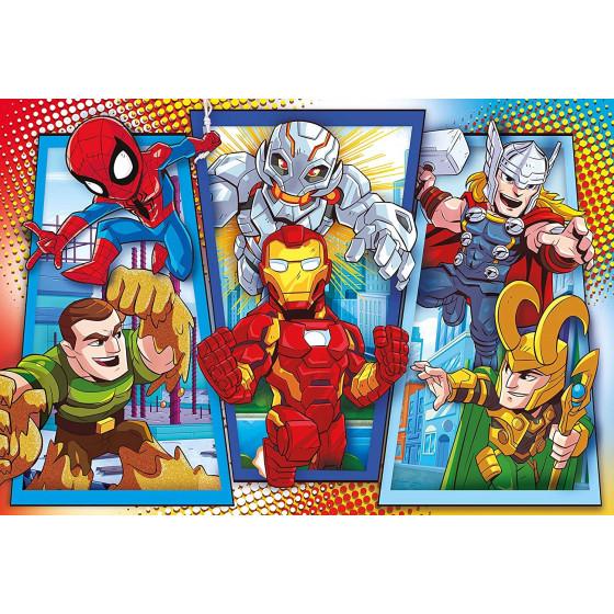 Marvel Super Hero Supercolor Puzzle 104 Maxi Pezzi 23746 Clementoni - 1