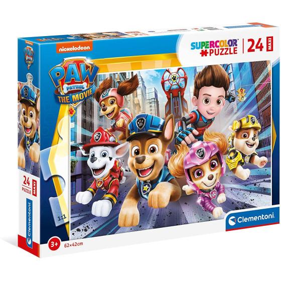 Paw Patrol il Film Supercolor Puzzle 24 Maxi Pezzi 24222 Clementoni - 1