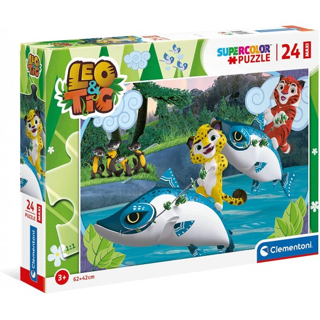 Leo e Tig Supercolor Puzzle 24 Maxi Pezzi 24223 Clementoni - 1